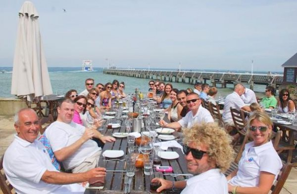 solent marine events corporate lunch george hotel yarmouth