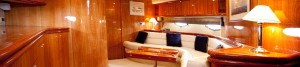 Interior of a Sunseeker Luxury Motor Yacht
