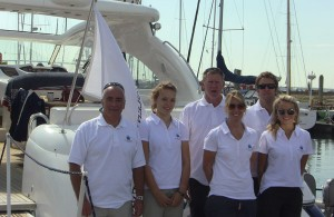 The Solent Marine Events Team on a Sunseeker Luxury Motor Yacht
