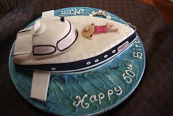 Luxury Yacht Birthday Cake for Yacht Charters
