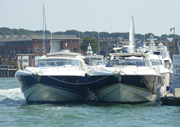Fleet of Sunseeker Yachts for a Cowes Week Corporate Hospitality Event Yacht Charter