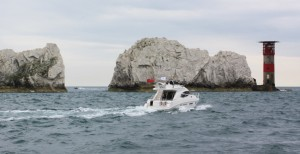 Cruising past The Needles on an Isle of Wight Yacht Charter