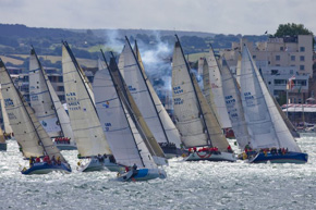Start of the Rolex Fastnet Race, Cowes, Isle of Wight