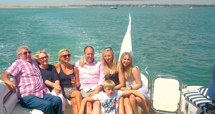 50th birthday party on a sunseeker