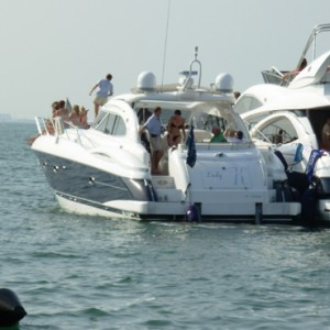 Cowes Week corporate hospitality sunseeker boat hire