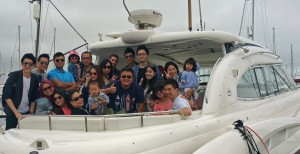 Chinese 40th birthday party sunseeker motor yacht