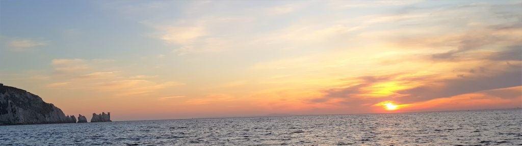 The Needles Sunseeker sunset cruise from Southampton