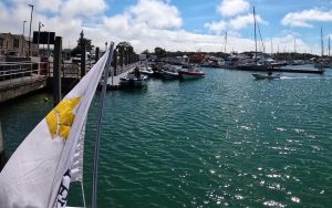 Lymington to The Hut Sunseeker Charter Solent Marine Events