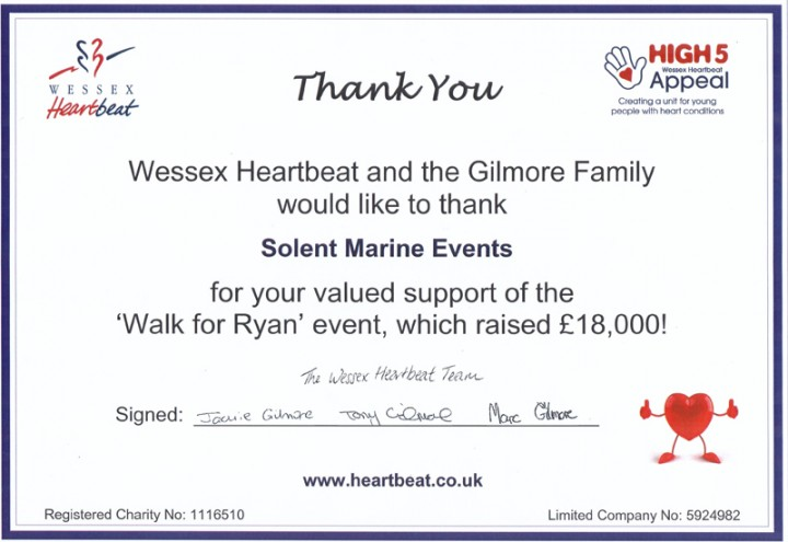 Wessex Heartbeat Gilmore Family Charity