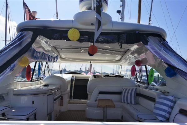 50th birthday party surprise luxury sunseeker motor yacht charter